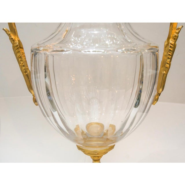 Gold French Louis XVI Signed Bronze Mounted Crystal Vase, Early 19th C. For Sale - Image 8 of 13