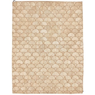 Schumacher Patterson Flynn Martin Fan Hand-Woven Abaca Modern Rug - 9' X 12' For Sale