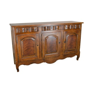 Drexel Heritage French Country Style Large 3 Door Buffet Sideboard (A) For Sale