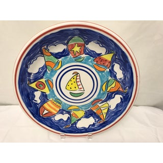 Vintage Hand-Painted Nautical Serving Plate Preview