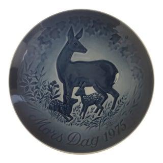 1975 Bing & Grondah Deers Denmark 9375 Mothers Day Collectors Plate For Sale