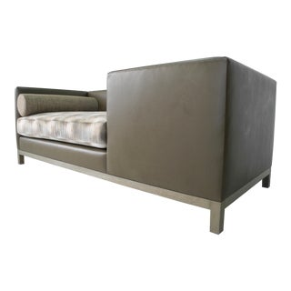 Custom A. Rudin Inspired Tete-A-Tete, Edward Wormley Style Sofa