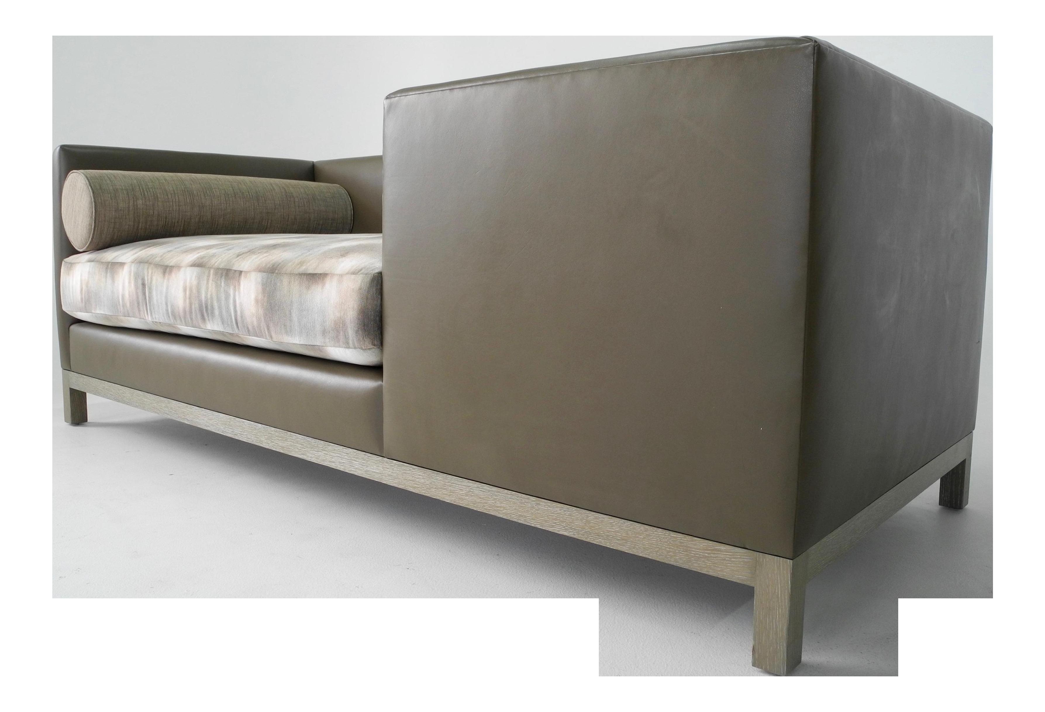 Custom A. Rudin Inspired Tete A Tete, Edward Wormley Style Sofa