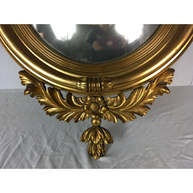 Federal Style Italian Convex Mirror - Image 5 of 5
