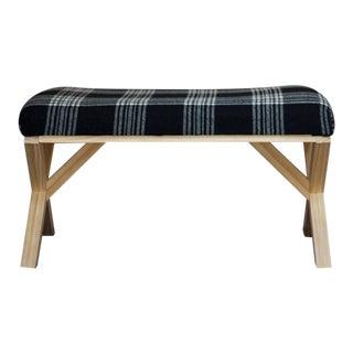 Pendleton Plaid Upholstered Bench