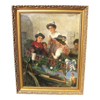 Friedrich Anton Otto Prolss German Genre Painting For Sale