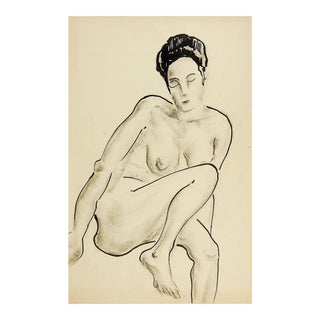 1960's Nude Female Study Drawing
