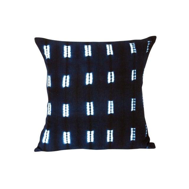 Indigo Blue Mud Cloth Pillow Covers - a Pair - Image 1 of 3