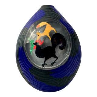 Massimo Nordio Murano Pictorial Vase For Sale