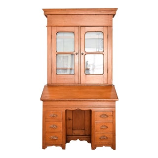 Antique Victorian Secretary Desk Bookcase or Hutch