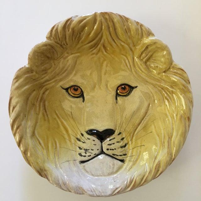 Larger- Italian Mid-Century Modern Golden Lion Bowl For Sale - Image 12 of 13