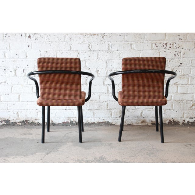 """Metal Ettore Sottsass for Knoll """"Mandarin"""" Armchairs - a Pair For Sale - Image 7 of 11"""