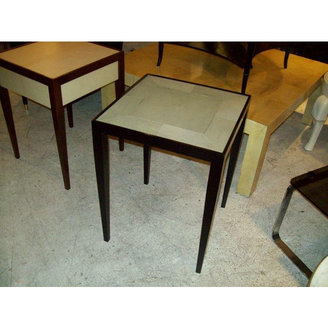 Modern Custom Pair of Handcrafted Shagreen End Tables For Sale - Image 3 of 5