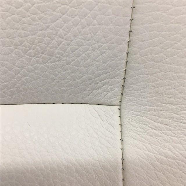 Dakota Jackson White Leather Marina Odile Chair - Image 9 of 10