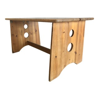 1970's Pine Table by Gilbert Marklund For Sale