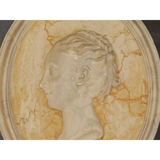 Vintage English Plaster Bust Relief - Image 4 of 4