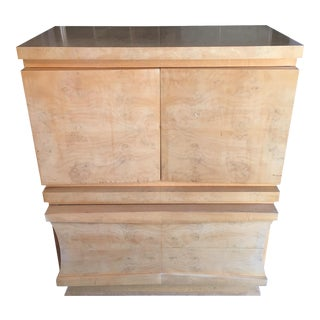 Mid-Century Birds Eye Maple Highboy Dresser For Sale