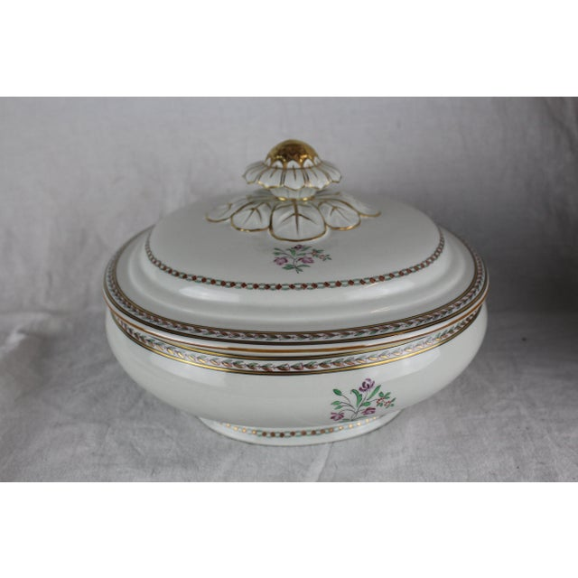 1950s Vista Alegre Covered Vegetable Dish For Sale - Image 5 of 6
