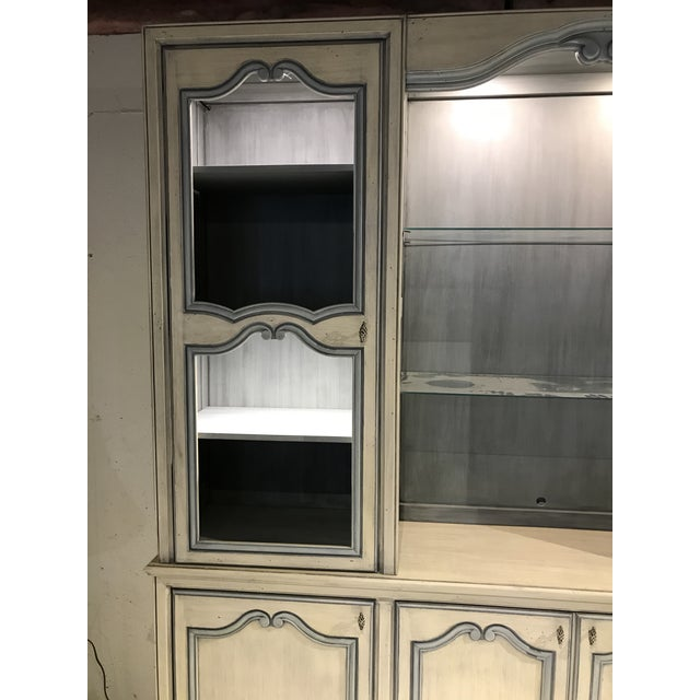 1980s French Curio China Display Cupboard Armoire For Sale - Image 9 of 12