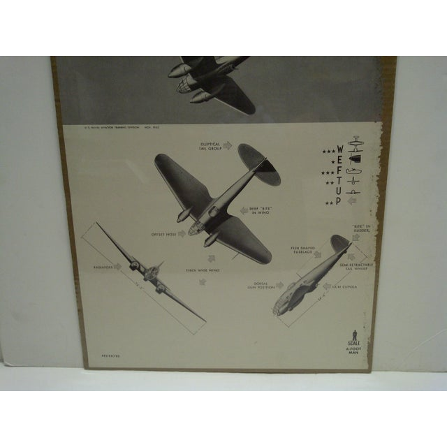 WWII Heinkel He 111k Aircraft Recognition Poster For Sale - Image 5 of 5