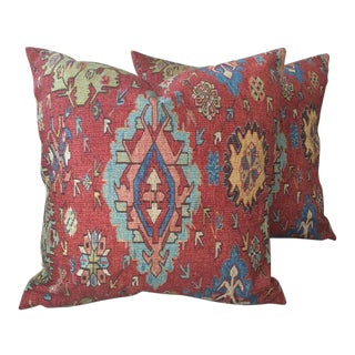 "Ralph Lauren ""Ibiza Rug"" Persian Rug Style Pillows - a Pair For Sale"