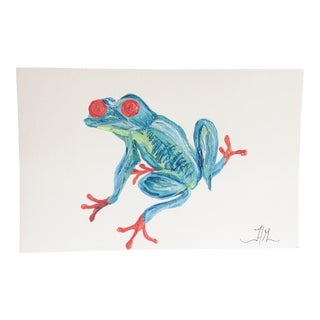 Blue Tree Frog No. 1 Original Painting