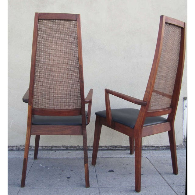 Mid-Century Cane-Back Armchairs by Tempo of Califo - Image 5 of 6
