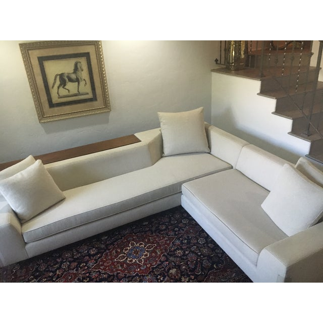 Vioski Shea Sectional With Walnut Console - Image 9 of 13