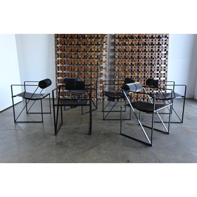 """1982 """"Seconda 602"""" Armchairs by Architect Mario Botta for Alias - Set of 6 For Sale In Los Angeles - Image 6 of 13"""