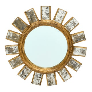 French Vintage Line Vautrin Style Mirror For Sale