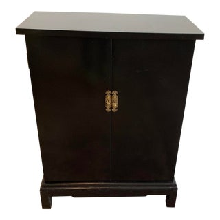 Vintage Black Hallway Cabinet For Sale