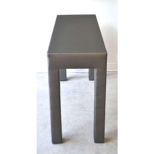 1960s Upholstered Console Table For Sale - Image 5 of 7