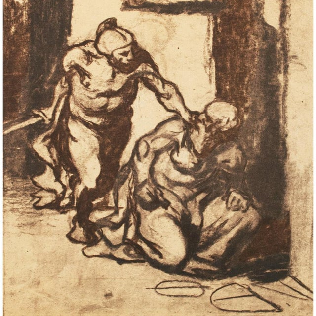 1950s 1959 Archimedes by Honoré Daumier, Vintage Hungarian Lithograph For Sale - Image 5 of 8