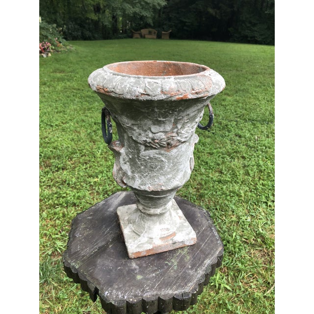 Ceramic Antique French Terra Cotta Jardiniere For Sale - Image 7 of 7