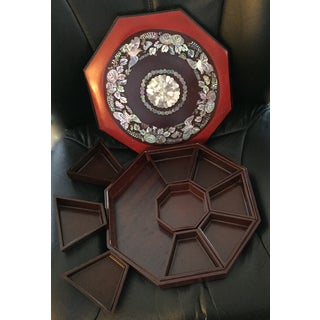 Antique Chinese Octagon Lacquer Box Preview