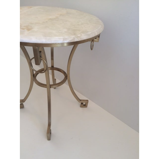 Todd Hase Christelle Gueridon Onyx Top Side Table For Sale In West Palm - Image 6 of 9