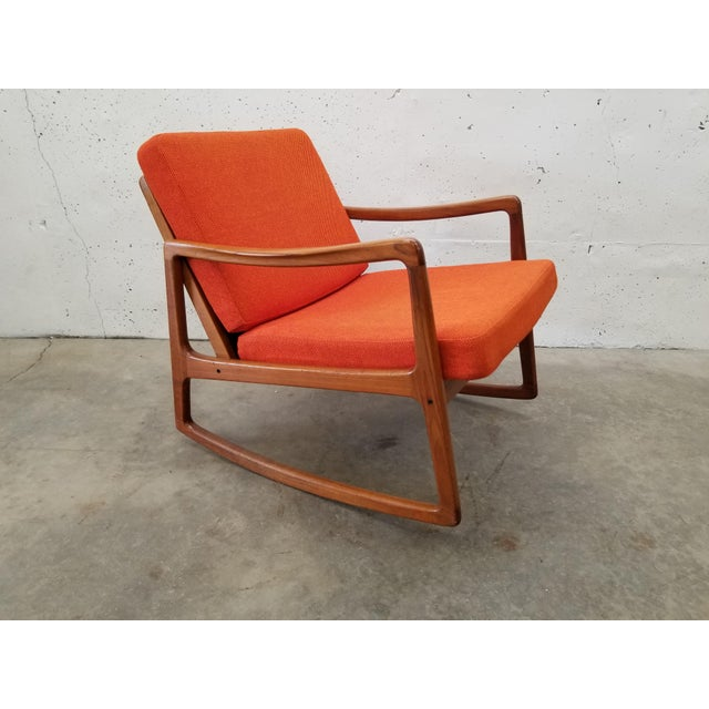 1960s Danish Modern Sculpted Teak Rocking Chair For Sale - Image 10 of 10
