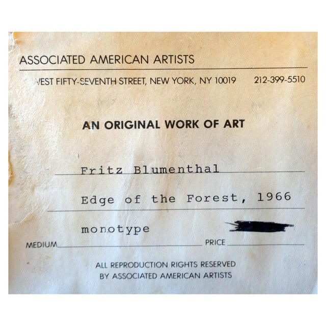 Fritz Blumenthal Edge of the Forest For Sale - Image 7 of 7