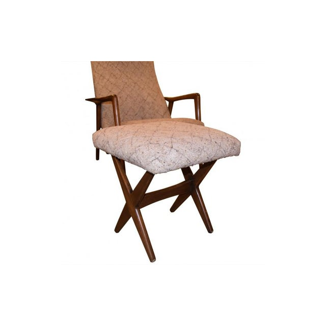 Textile Folke Ohlsson Mid-Century Chair & Ottoman For Sale - Image 7 of 7