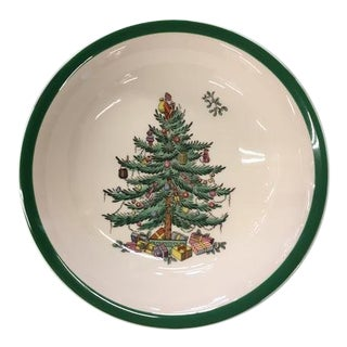 """Late 20th Century Vintage Spode England """"Christmas Tree"""" Bread & Butter Plates - Set of 4 For Sale"""