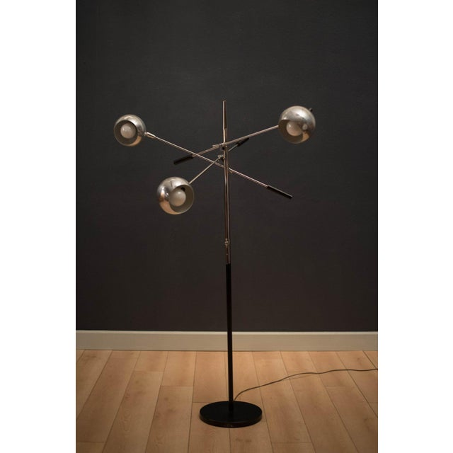 Mid-Century Modern Mid-Century Modern Robert Sonneman Triennale Chrome Floor Lamp For Sale - Image 3 of 11