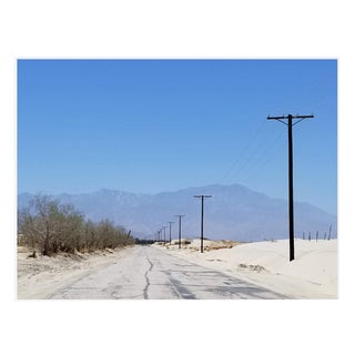 Americana Photograph of Vanishing Desert Road