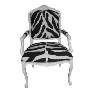 Zebra Print Bergere Chair