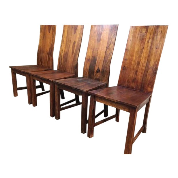 Vintage Wooden Dining Chairs - Set of 4 - Image 1 of 4