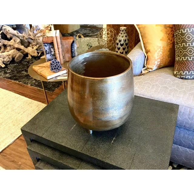 Large Bronze Colored Cache Pot - Image 3 of 6