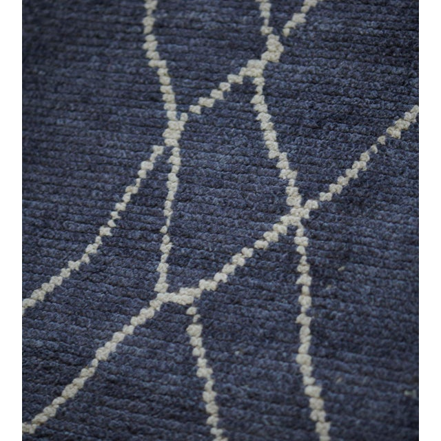 MANSOUR Handwoven Moroccan Inspired Wool Rug For Sale - Image 4 of 7