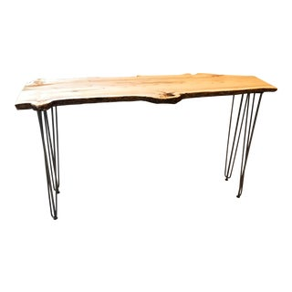 Live Edge Console Table For Sale