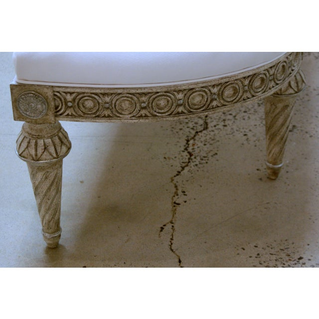 Swedish Bench With Curved Ends For Sale In Greensboro - Image 6 of 7