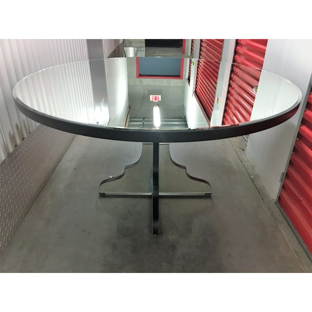 Round Beveled Mirror Dining/Entryway Table - Image 9 of 11
