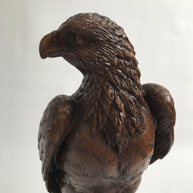 Vintage Red Mill Eagle Statue For Sale - Image 5 of 8